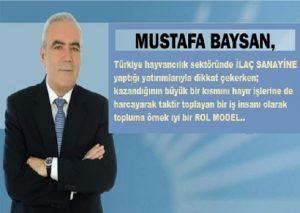 """Mustafa Baysan""""Ben bu topraklarda doğdum, büyüdüm, okudum. Bu topraklara, vefa borcumu hiçbir zaman unutmadım.""""diye konuştu.."""